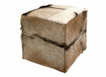 Pacino Animal Hide Stool - IMAX - 51379
