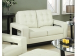 Paige Contemporary Loveseat with Cutout Arms - 504422