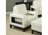 Paige Cream Chair with Cutout Arms - 504423