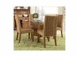 Palm Isle Dining Table with 4 Parsons Chairs - Largo - LARGO-ST-D1650-230B-243