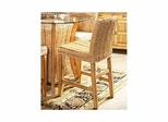 Palm Isle Parsons Stationary Stool Antique Honey and Abaca Weave - Largo - LARGO-ST-D1650-PARSON
