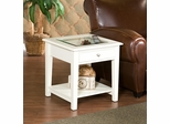 Panorama End Table - Off White - Holly and Martin
