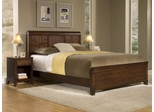 Paris Queen Size Bed with Night Stand in Mahogany - Home Styles - 5540-5017