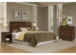 Paris Queen Size Headboard, Night Stand, and Four Drawer Chest in Mahogany - Home Styles - 5540-5016