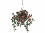 Passion Flower Silk Hanging Basket - Nearly Natural - 6626