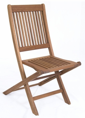 Patio Furniture / Outdoor Furniture - Ipanema Folding Chair Without Arms (Set of 2) - Eucalyptus Wood - Wood Finish - INT-BT-223