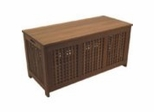 Patio Furniture / Outdoor Furniture - Porto Real Chest - Eucalyptus Wood - Wood Finish - INT-BT-335
