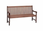 Patio Outdoor Bench - Milano Bench 5 Feet - Eucalyptus Wood - Wood Finish - INT-BT-362