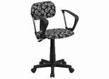 Peace Sign Printed Computer Chair - BT-PEACE-A-GG