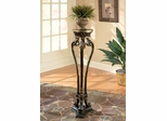 Pedestal in Black with Gold Tipping - Butler Furniture - BT-1900147