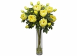 Peony with Cylinder Silk Flower Arrangement - Nearly Natural - 1230-YL