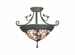 Pink Floral Hanging Fixture - Dale Tiffany