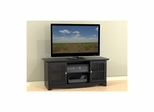 Pinnacle 56'' Black TV Stand for Center Channels - Nexera Furniture