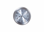 Pisces Round Wall Clock in Brushed Nickel - Howard Miller