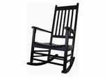 Porch Rocker Chair in Black - R-51866