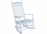 Porch Rocker Chair in White - R-93015