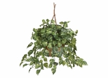 Pothos Hanging Basket Silk Plant in Green - Nearly Natural - 6517