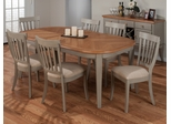 Pottersville 7PC Oval Leg Dining Table Set in Antique Grey - 771-78