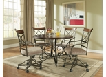 Powell 5 Pc. Hamilton Dining Set with (4) 697-435 Swivel Arm Chairs