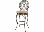 Powell Big and Tall Barstool Scroll Circle Back
