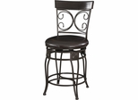 Powell Big and Tall Counter Stool Back to Back Scroll