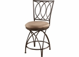 Powell Big and Tall Counter Stool Metal Crossed Legs