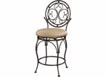Powell Big and Tall Counter Stool Scroll Circle Back