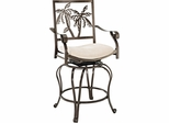 Powell Big & Tall Palm Tree Counter Stool with Arms