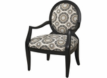 Powell Black Chair with Mist Floral Fabric