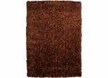 Powell Bombay Luxe Shag Rug Brown Microfiber