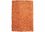 Powell Bombay Luxe Shag Rug Russet Microfiber