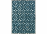 Powell Bombay Rug Contort Teal 100% Polyester