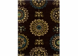 Powell Bombay Rug Suzani Brown Hand Tufted