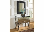 Powell Mirrored 2 Drawer Console