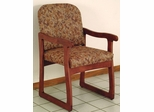 Prairie Sled Base Chair in Red Mahogany - Wooden Mallet Office Furniture - DW7-1MH