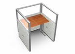 "Privacy Cubicle Panel Station, 1X1 Layout, 47""H, 36""W, Polycarbonate Panel Tops - OFM - T1X1-4736-P"