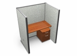 "Privacy Cubicle Panel Station, 1X1 Layout, 63""H, 48""W, Vinyl Panels - OFM - T1X1-6348-V"