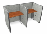 "Privacy Cubicle Panel Station, 1X2 Layout, 47""H, 36""W, Vinyl Panels - OFM - T1X2-4736-V"