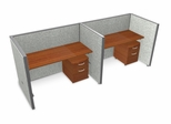 "Privacy Cubicle Panel Station, 1X2 Layout, 47""H, 60""W, Vinyl Panels - OFM - T1X2-4760-V"