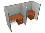 "Privacy Cubicle Panel Station, 1X2 Layout, 63""H, 48""W, Vinyl Panels - OFM - T1X2-6348-V"