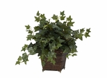 Puff Ivy with Coiled Rope Planter Silk Plant - Nearly Natural - 6705