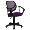 Purple Mesh Computer Chair with Arms - WA-3074-PUR-A-GG