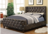 Queen Bomber Jacket Upholstered Bed - 300249Q