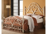Queen Ornate Metal Headboard & Footboard Bed - 300264Q