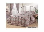 Queen Size Bed - Bonita Metal Bed in Copper Mist