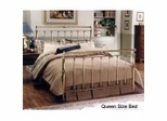 Queen Size Bed - Charleston Metal Bed in Antique Brass