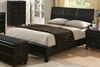 Queen Size Bed - Danielle Queen Size Bed in Dark Brown / Cappuccino - Coaster - 201261Q