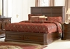 Queen Size Bed - Foxhill Queen Size Bed in Deep Cherry Brown - Coaster - 201581Q