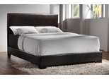 Queen Size Bed in Brown Vinyl - Coaster - 300261Q