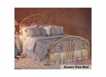 Queen Size Bed - Jackson Metal Bed in Classic Brass